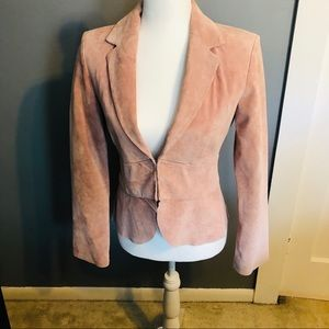 Together Suede Fitted Blazer